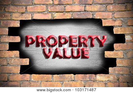 Property Value In The Hole Of Brick Wall