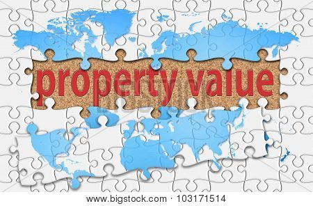 Property value Reveal Word With Reveal Jigsaw