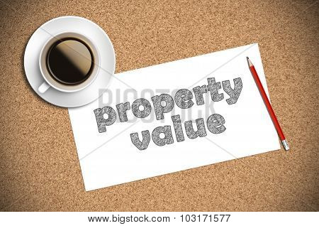 Coffee And Pencil Sketch  Property Value On Paper