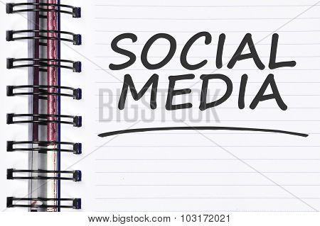 Social Media Words On Spring Note Book