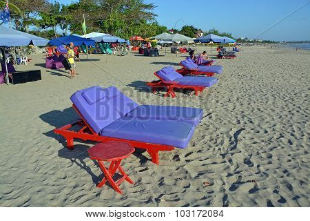 Chairs & Umbrellas On Legian Beach, Bali