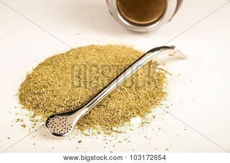 Mate Grass And Utensils