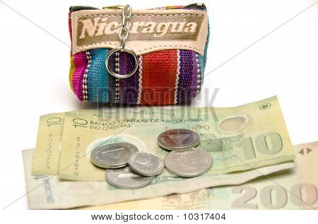 Souvenir Key Chain Change Purse Coins Made In Nicaragua