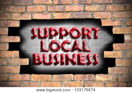 Support Local Business In The Hole Of Brick Wall