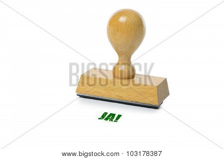 Ja Rubber Stamp