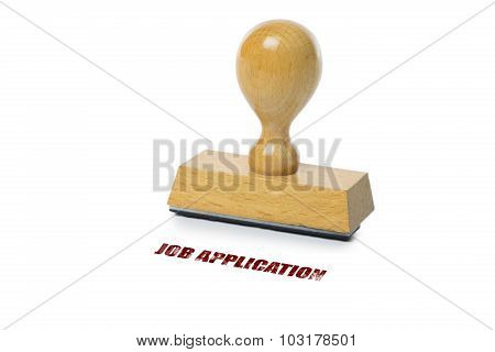 Job Application Rubber Stamp