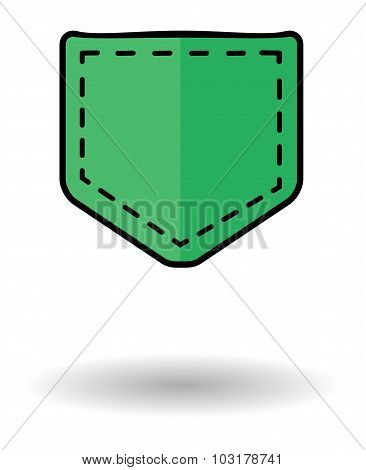 Green Pocket Vector Icon