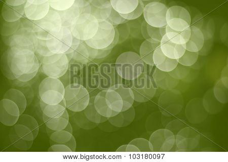 Green Bokeh Light. Abstract Christmas Background