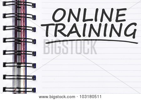 Online Training Words On Spring Note Book