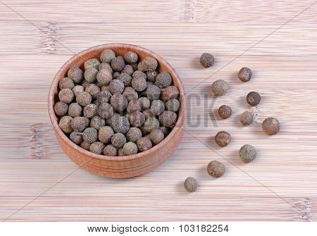Aromatic Fragrant Black Pepper In A Bowl
