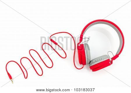 Red Headphones.