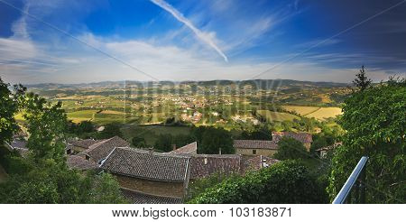 Panorama Of The Beaujolais, Rhone, France