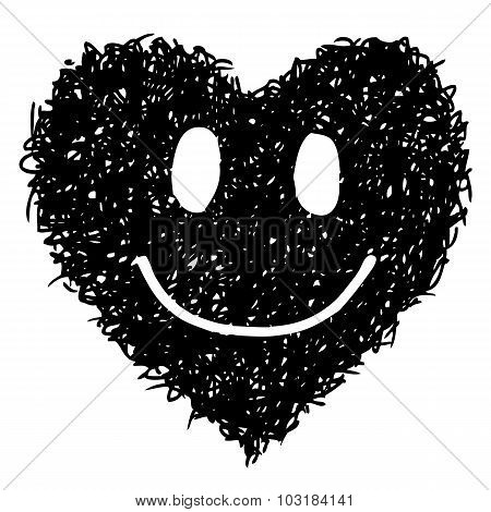 Doodle Smile Face Hand Drawn