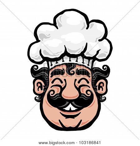 Smiling Chef Cartoon