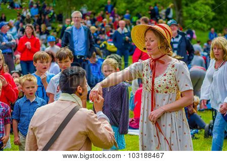Midsummer Celebration In Gothemburg, Sweden