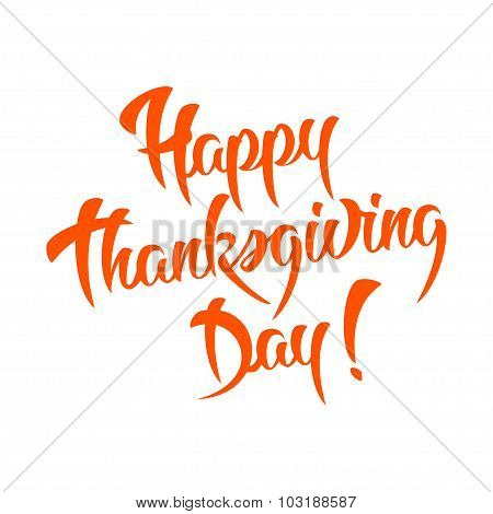 Happy Thanksgiving Day Calligraphic text