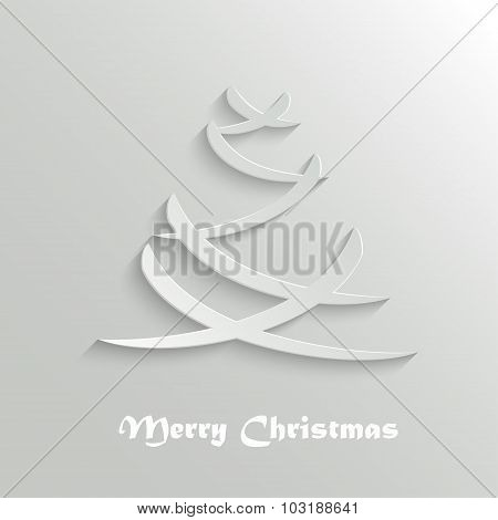 Abstract Modern Christmas Tree Background, Design Template