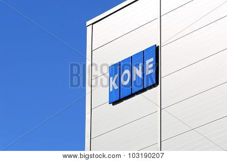 KONE Building With Signage And Blue Sky