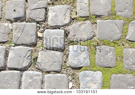 old stone footpath