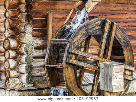 Rural Wooden Watermill