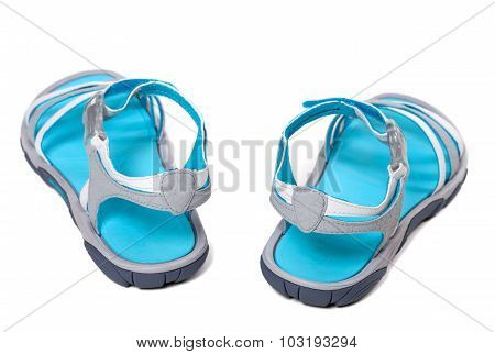 Summer Sandals On White Background