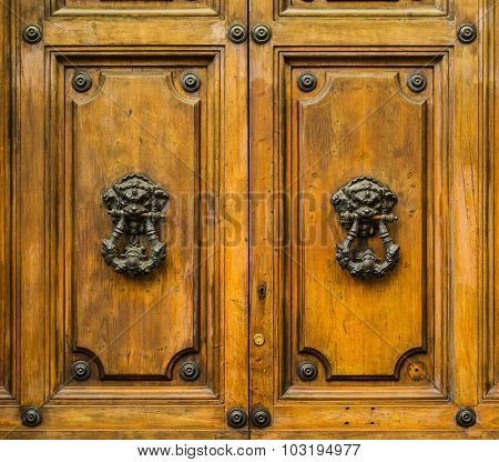 Old Doors Of Roma, Italy