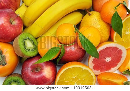 Background Set Of Fruits