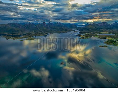 Scenic View Of Vesteralen