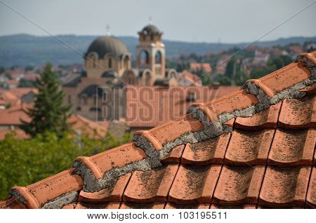 Tiled Roof And Church