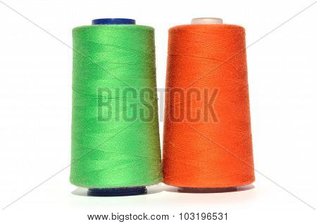 Green And Orange Thread