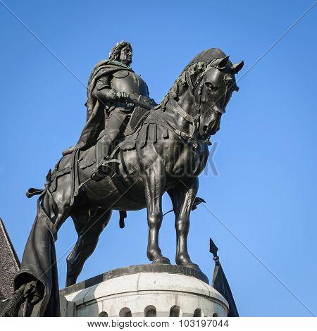 Statue of Matthias Corvinus in Cluj-Napoca, Romania