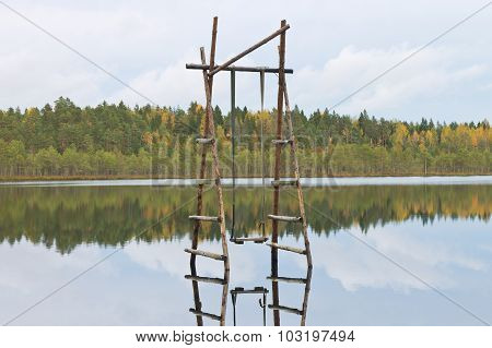 swings over water