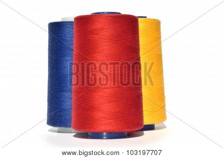 Red Blue And Yellow Thread