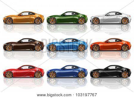 Car Vehicle Transportation 3D Illustration Concept