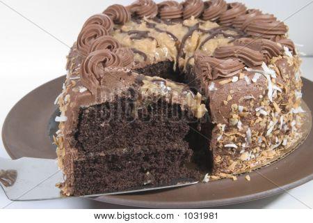 Rebanada de pastel de Chocolate alemán del viejo mundo