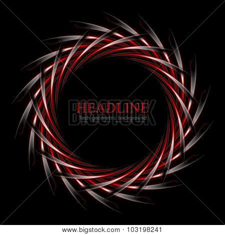 Dark red and black concept round logo design. Vector background