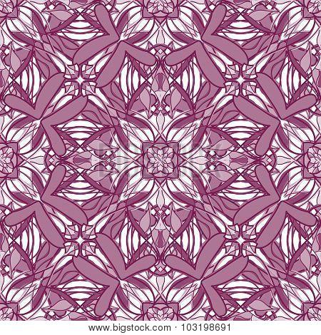 Pattern With Decorative Symmetric Oriental Ornaments