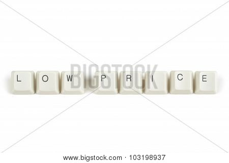 Low Price From Scattered Keyboard Keys On White