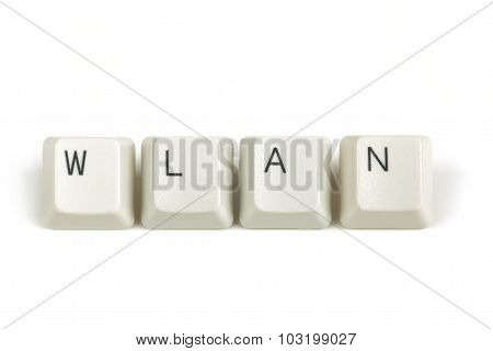 Wlan From Scattered Keyboard Keys On White