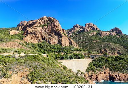 Rocks Of Esterel Mountains, Saint Raphael, France