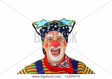 Clown is laughing