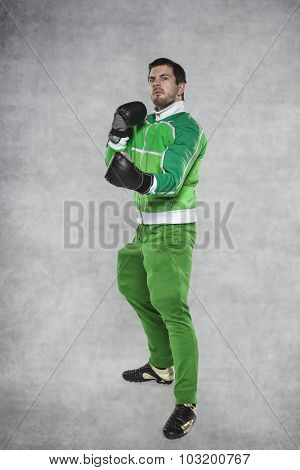 Trainer In Boxing Gloves
