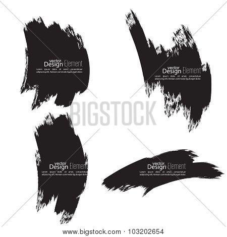 Set of hand drawn smears.