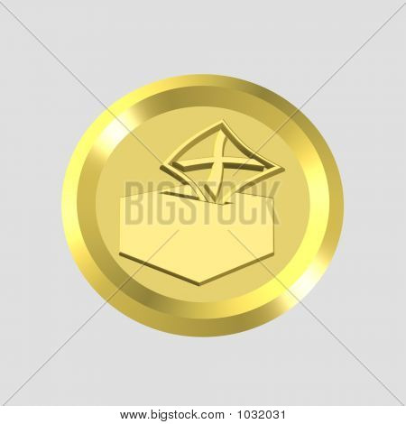 Gold Vote Icon