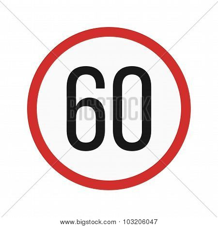 Speed limit 60