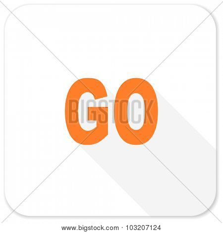 go flat icon