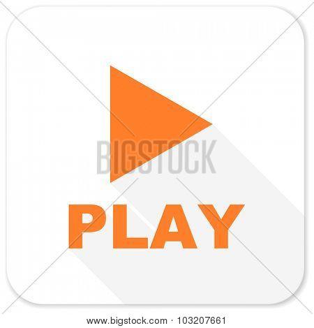 play flat icon