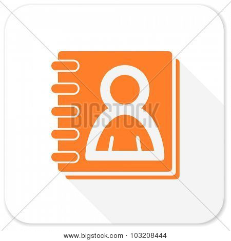 address book flat icon