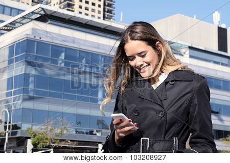 Business Using Her Smartphone