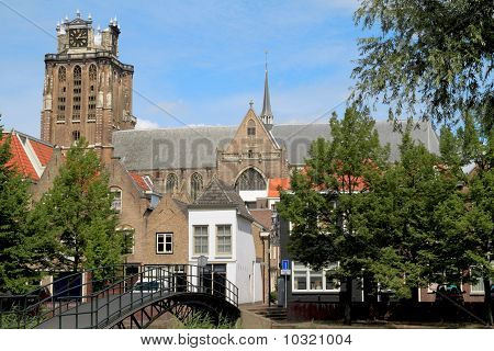 Cathedral Towering Above The Houses